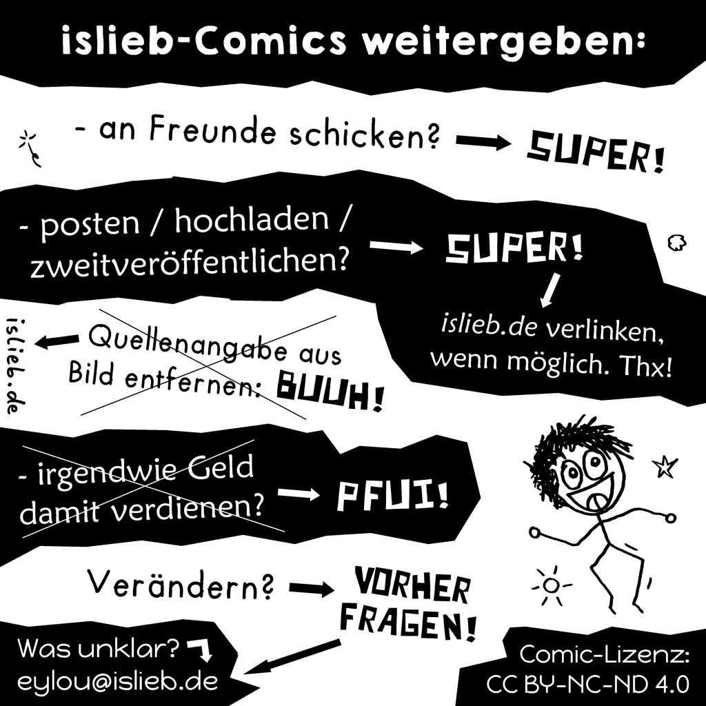 Islieb-Comics weitergeben
