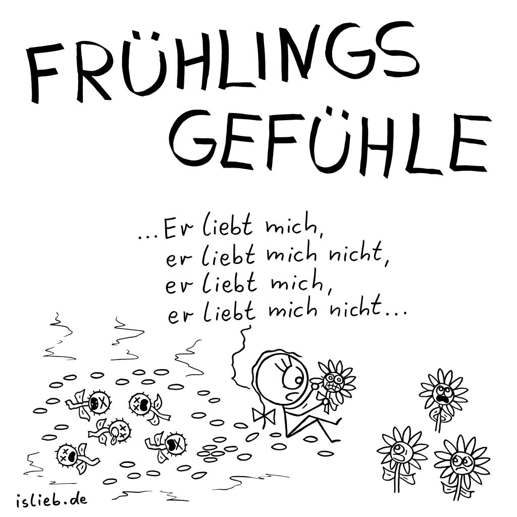 Frühlingsgefühle | Blümchen-Cartoon | is lieb?
