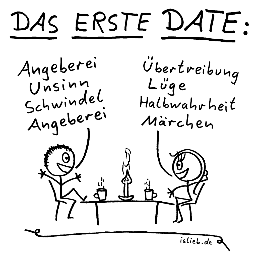 das erste date comic 63 islieb. Black Bedroom Furniture Sets. Home Design Ideas