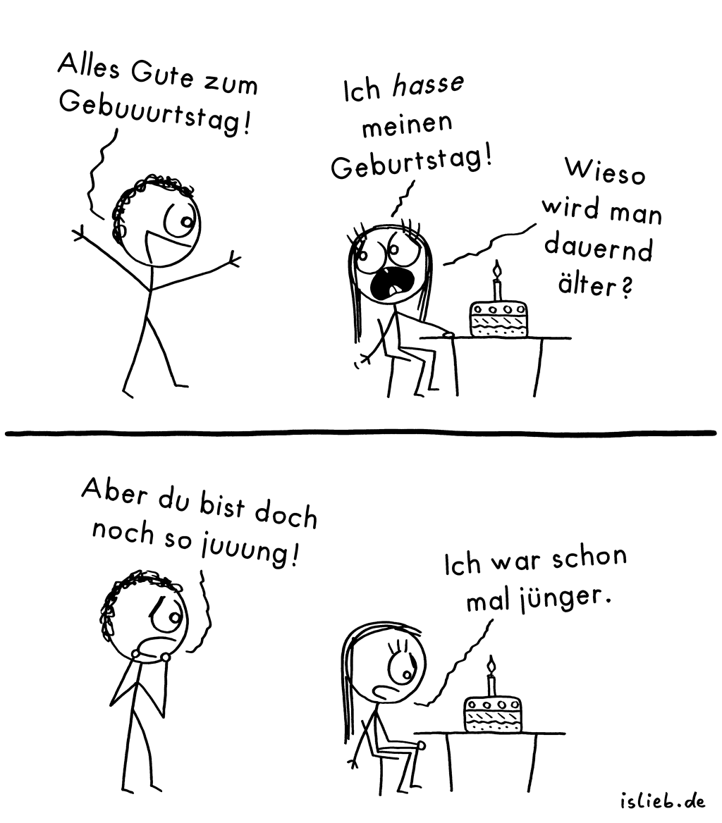 Geburtstag Comic 127 Islieb