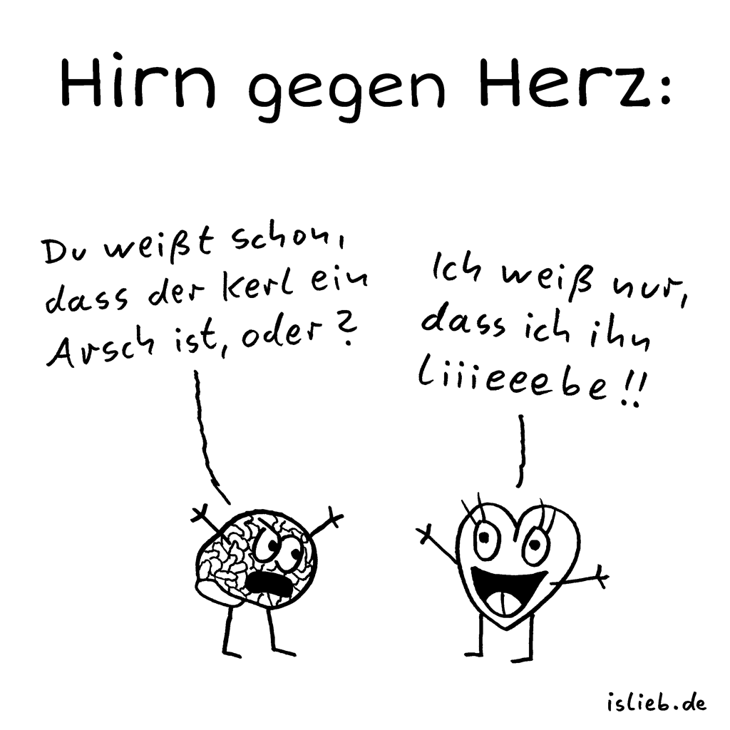 hirn gegen herz comic 121 islieb. Black Bedroom Furniture Sets. Home Design Ideas