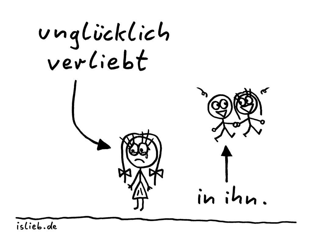 Unglücklich verliebt | Liebes-Cartoon | is lieb? | In ihn, Liebe, Liebeskummer, Schwarm