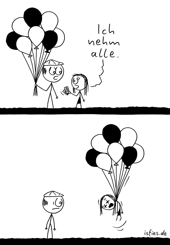 Ballonverkäufer | Is fies! | Ich nehm alle. | Ballons, Luftballons, erhängen, Selbstmord, Suizid, Depression, depressiv