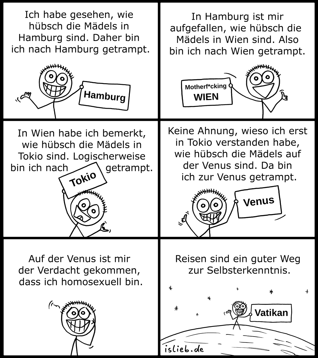 Getrampt | Reise-Comic | is lieb?