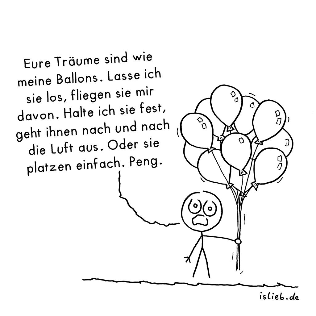 Eure Träume | Strichmännchen-Cartoon | is lieb?