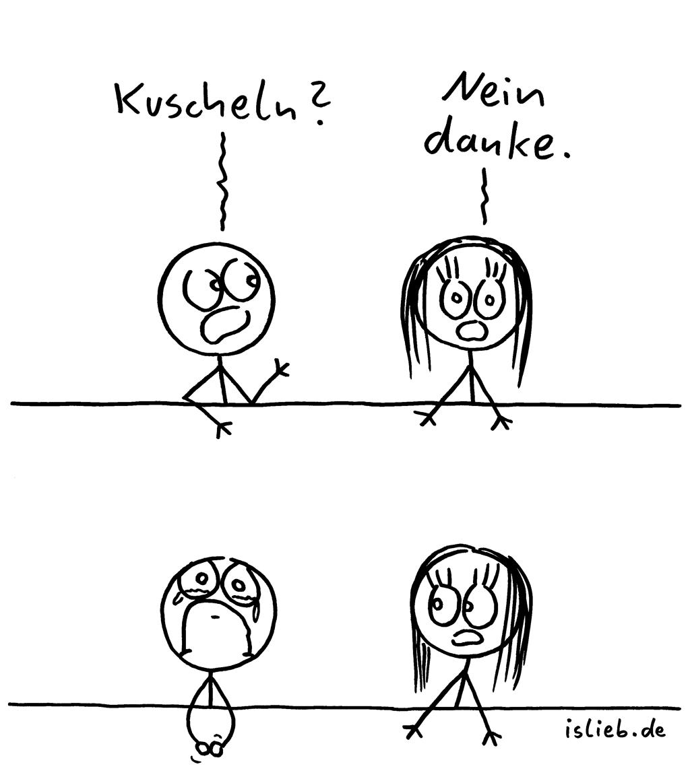 Kuschelanfrage | Kuschel-Comic | is lieb? | Kuscheln? Nein danke.