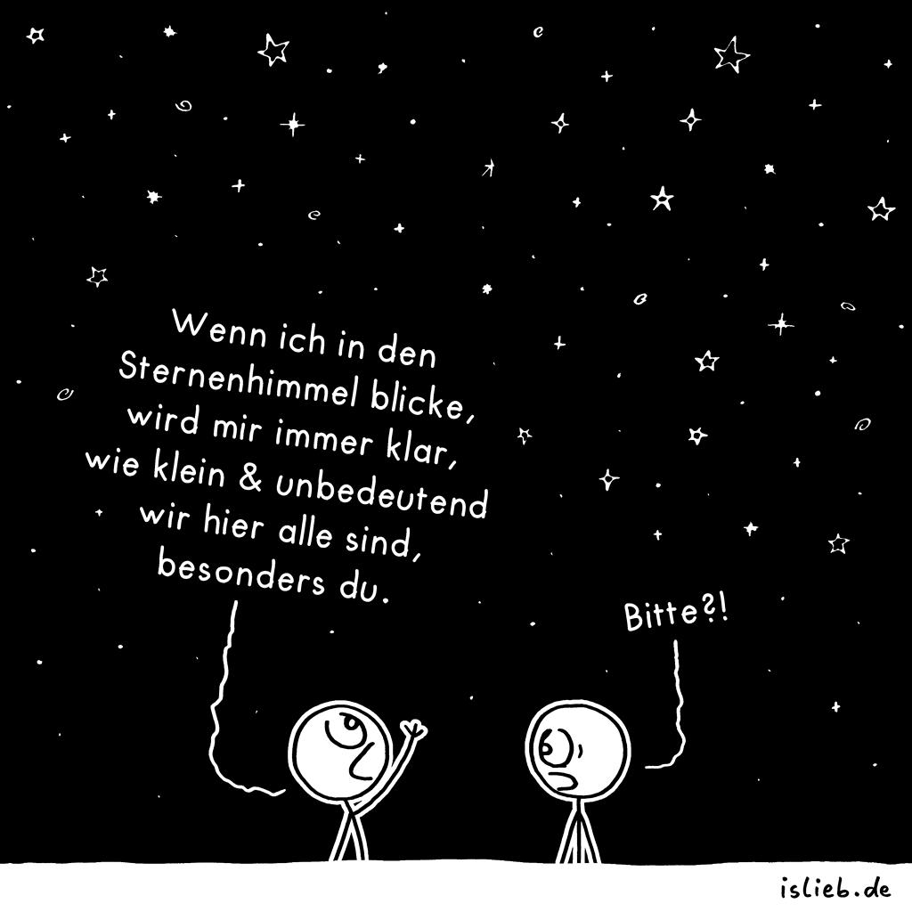 Klein und unbedeutend | Sternen-Cartoon | is lieb?