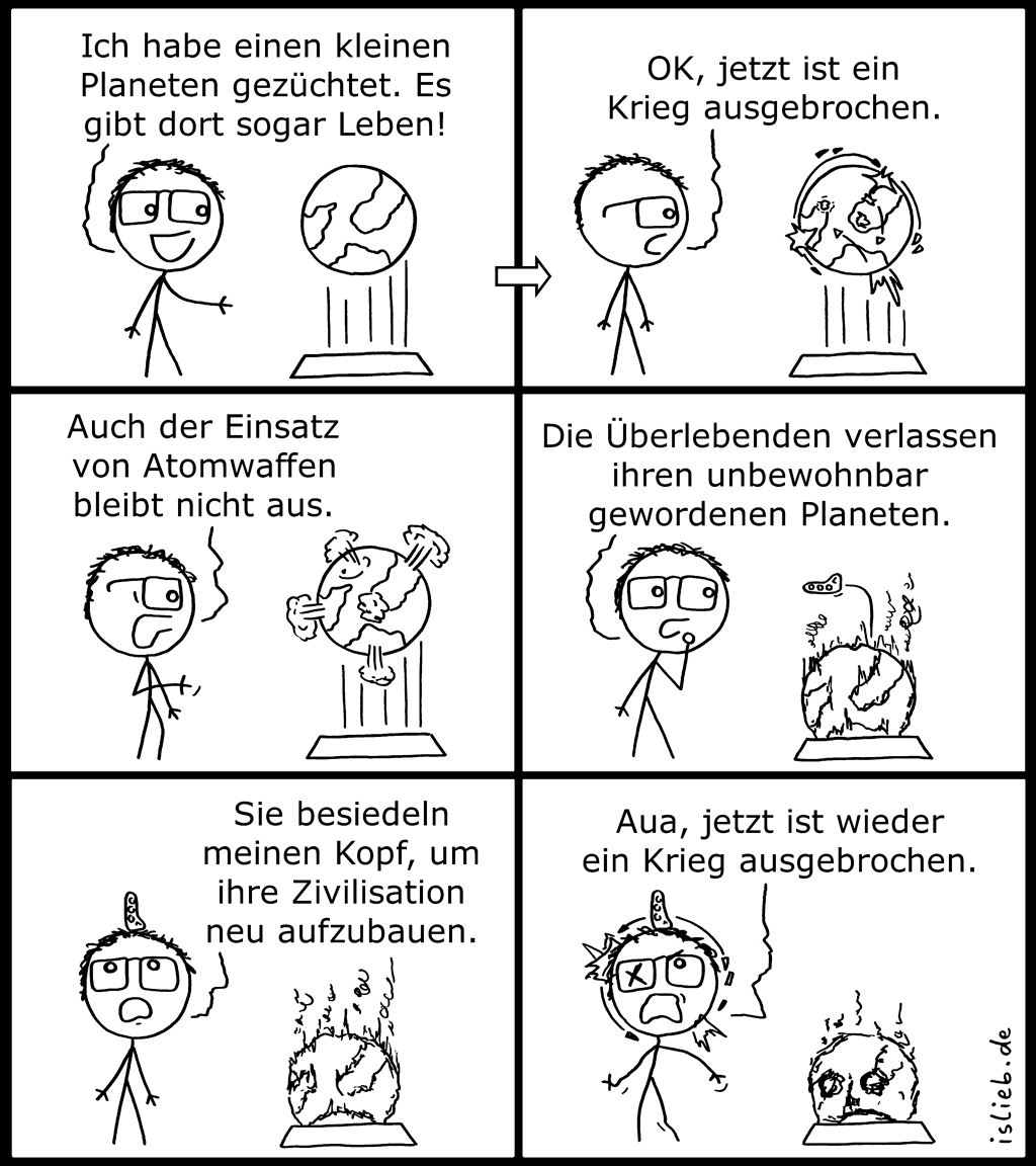 Planet | Kriegs-Comic | is lieb?