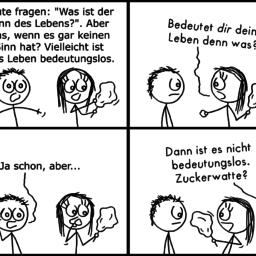 Bedeutungslos | Philosophie-Comic | is lieb?