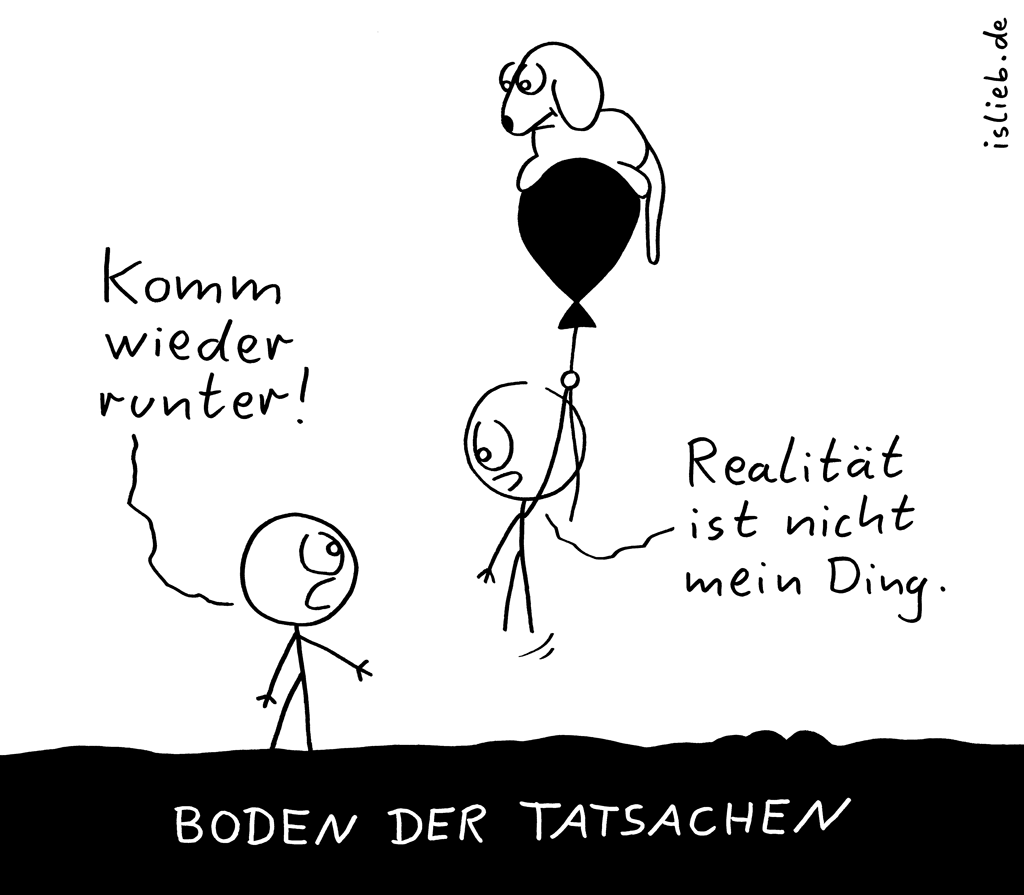 Runter | Ballon-Cartoon | is lieb?