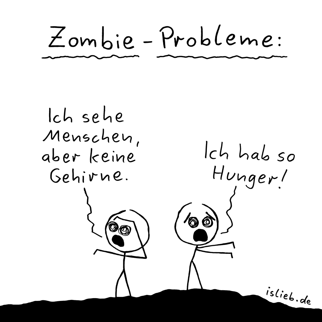 Zombie-Probleme | Nahrungs-Cartoon | is lieb?