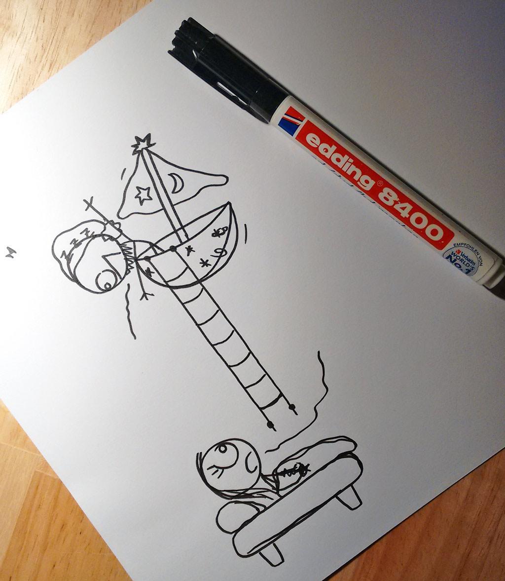 schlafenszeit zeichnung