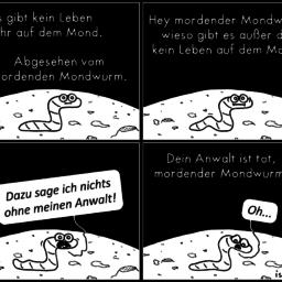 Auf dem Mond | Wurm-Comic | is lieb?