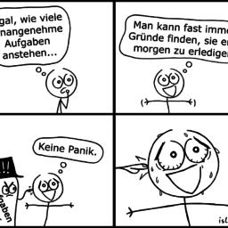 Aufgaben | Prokrastinations-Comic | is lieb?