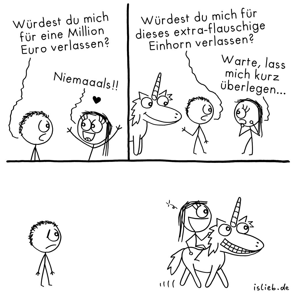 Beziehungstest | Einhorn-Comic | is lieb?