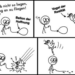Hoffnung | Ballon-Comic | is lieb?