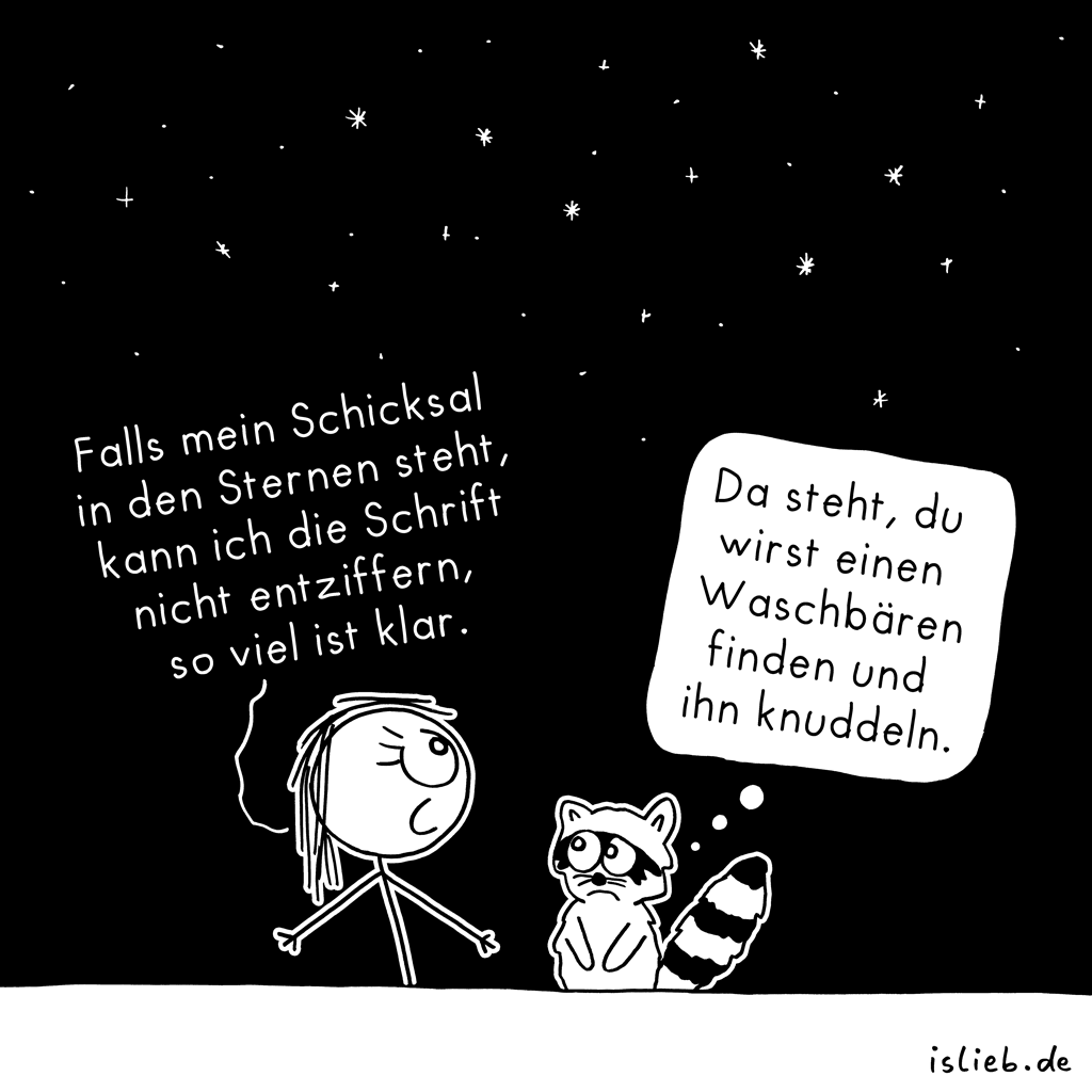 In den Sternen | Schicksals-Cartoon | is lieb?