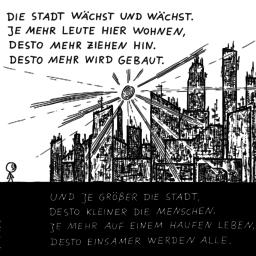 Stadt | poetischer Cartoon | is lieb?