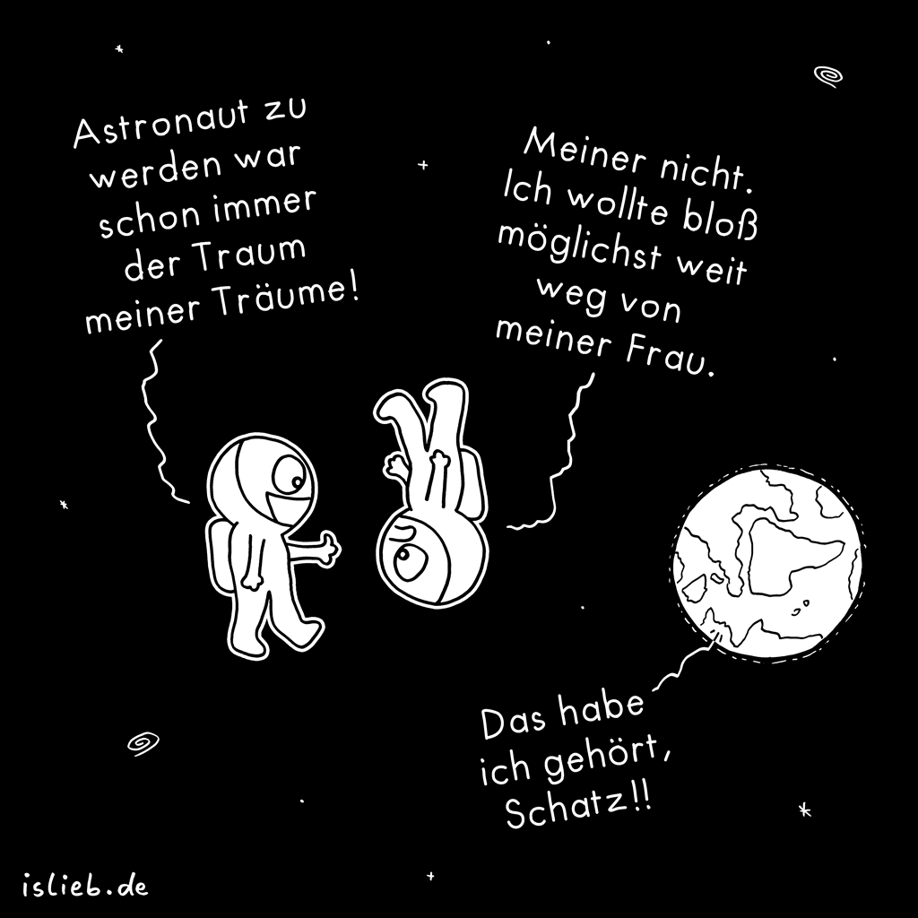 Astronaut | Weltall-Cartoon | is lieb?