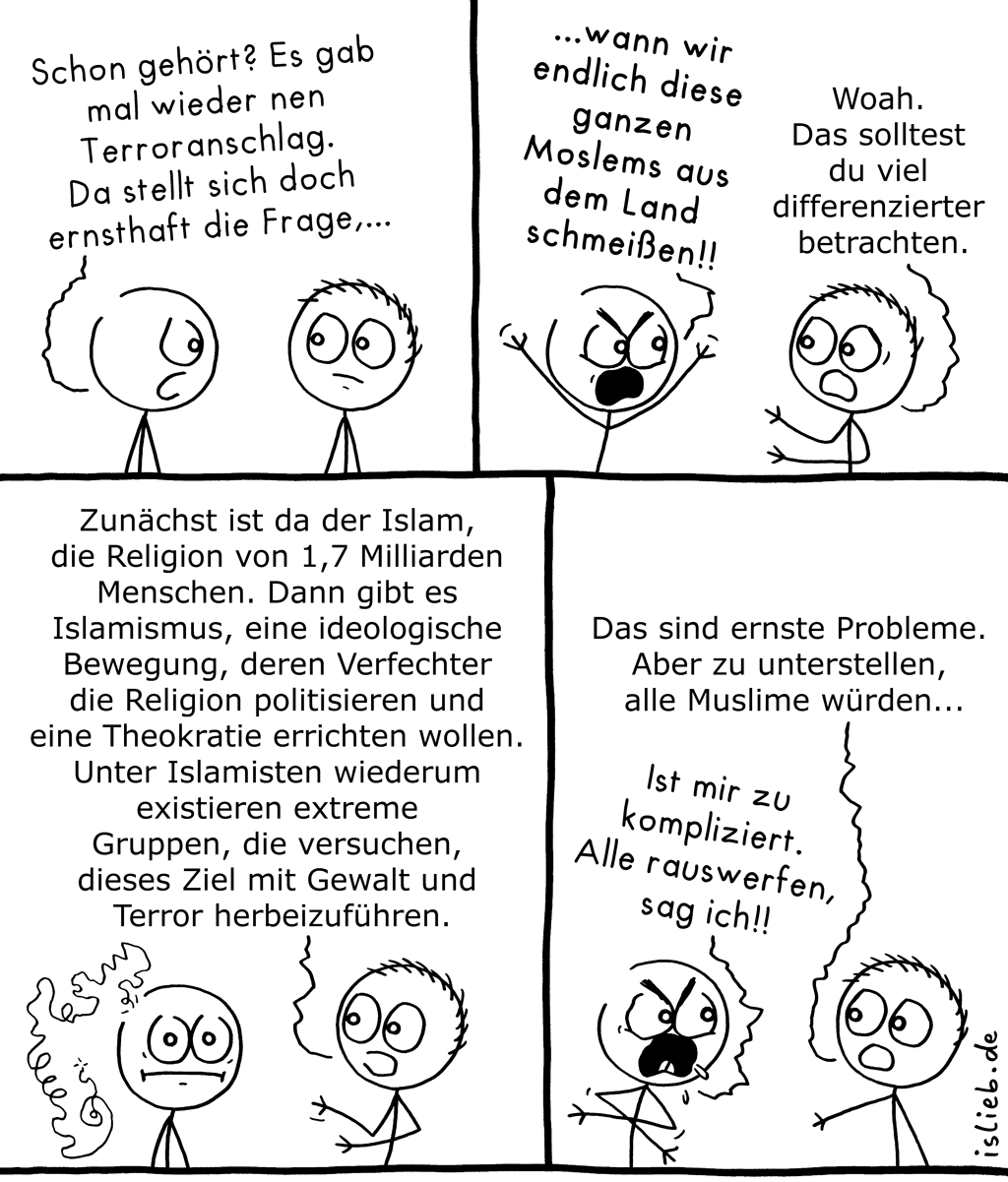 Differenziert betrachten | Politischer Comic | is lieb?