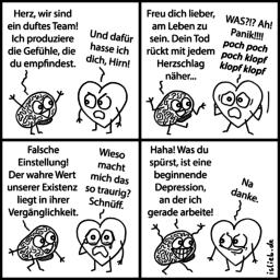Duftes Team | Herz-Comic | is lieb?
