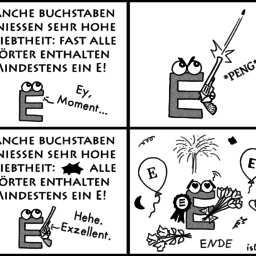 E | Buchstaben-Comic | is lieb?