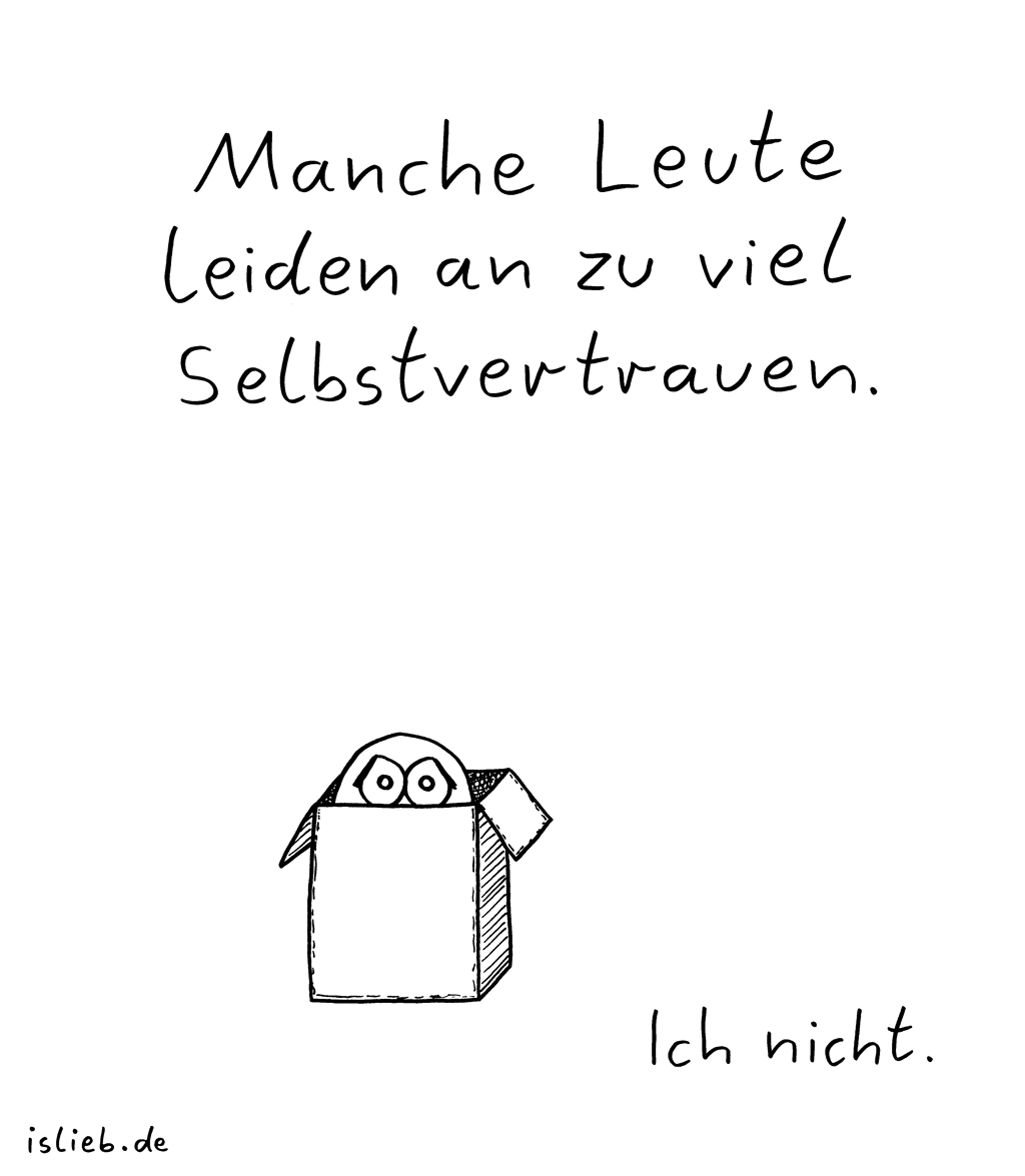 Selbstvertrauen | Karton-Cartoon | is lieb?