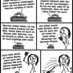 Spinne | Comic mit Botschaft | is lieb?