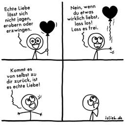 Echte Liebe | Strichmännchen-Comic | is lieb?