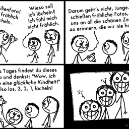 Familienfoto | Erinnerungs-Comic | is lieb?