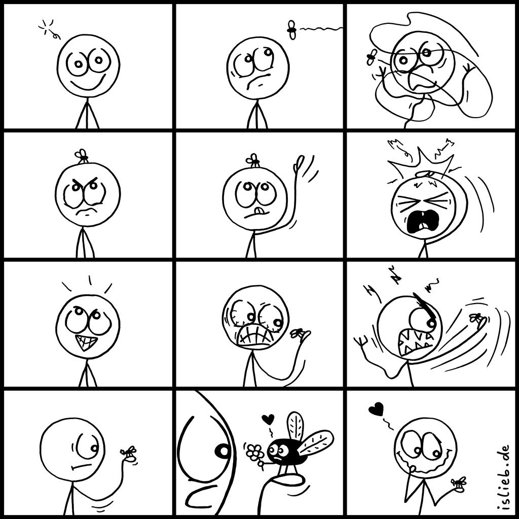 Fliege | Insekten-Comic | is lieb?