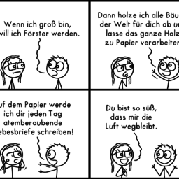 Förster | Strichmännchen-Comic | is lieb?