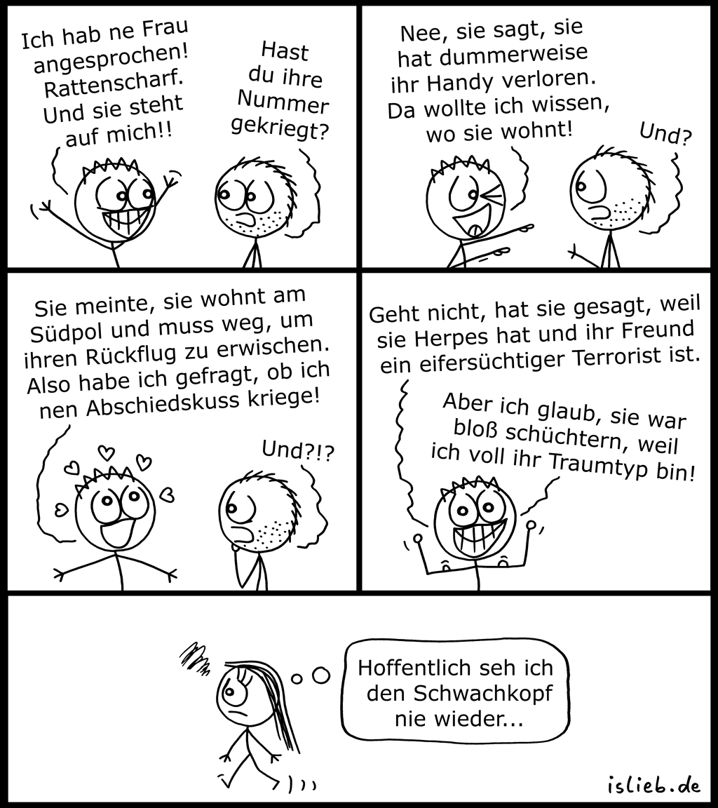 Frauenheld | Flirt-Comic | is lieb?