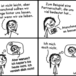 Hinter uns lassen | Herzschmerz-Comic | is lieb?