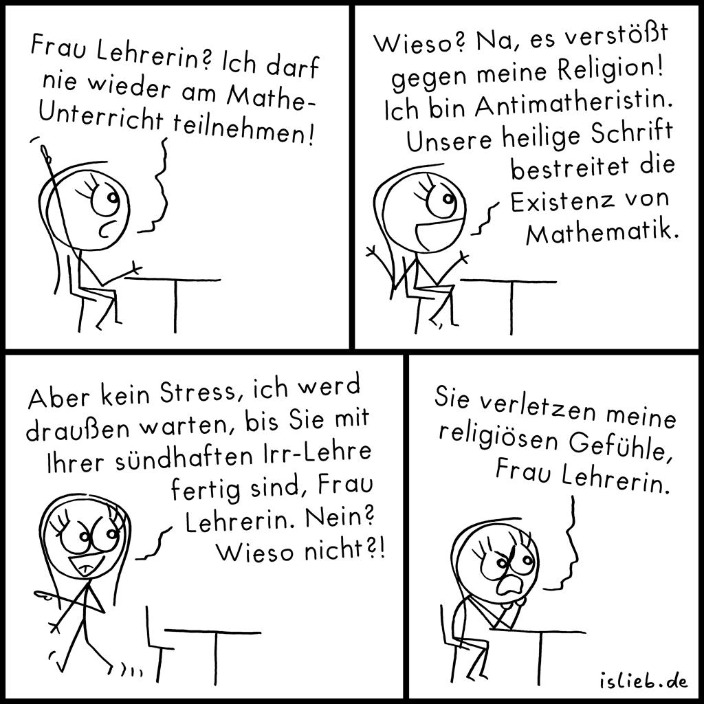 Nie wieder | religiöser Comic | is lieb?