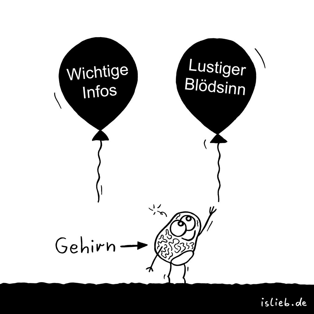 Präferenz | Gehirn-Cartoon | is lieb?