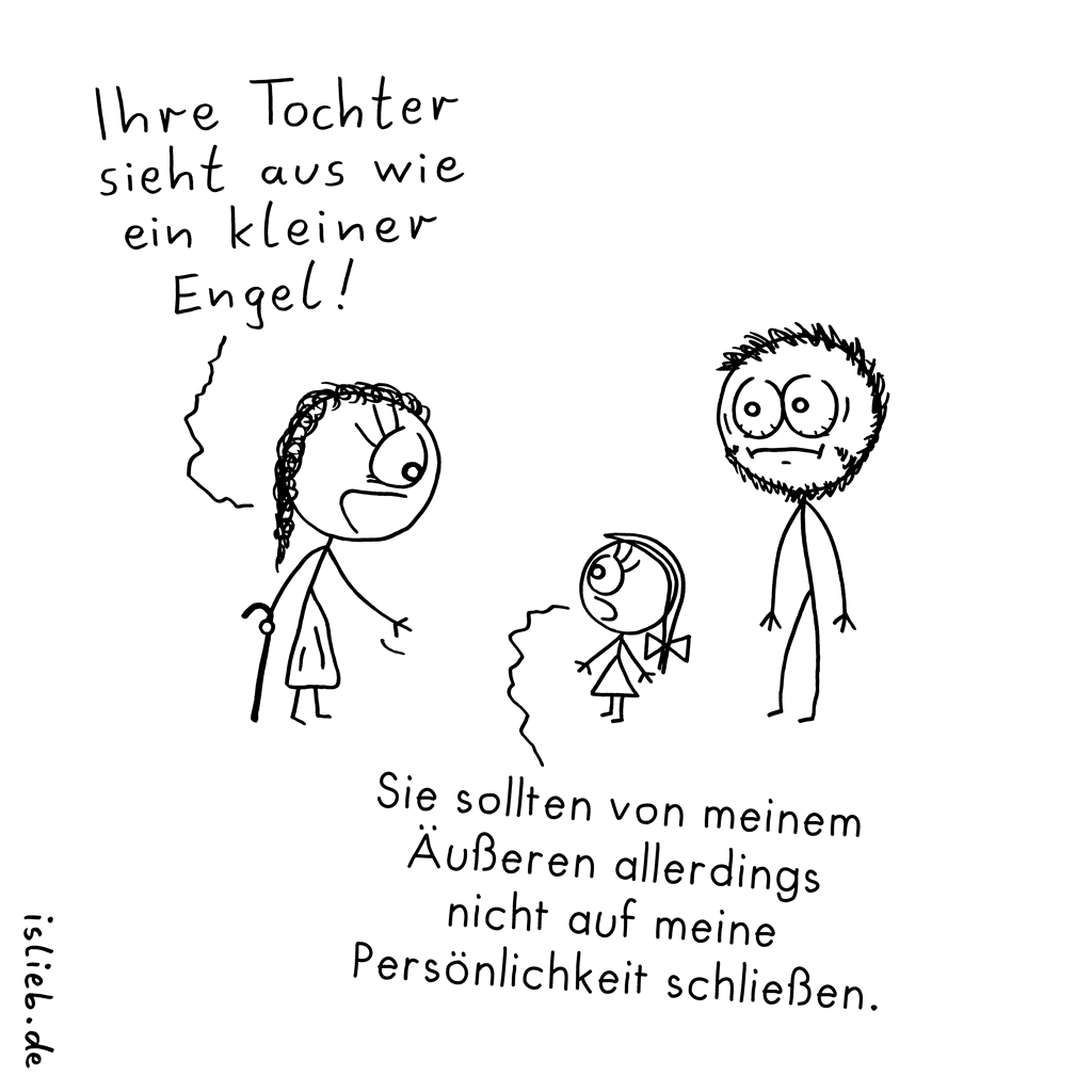 Tochter | Engels-Cartoon | is lieb?