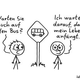 Warten | Bus-Cartoon | is lieb?