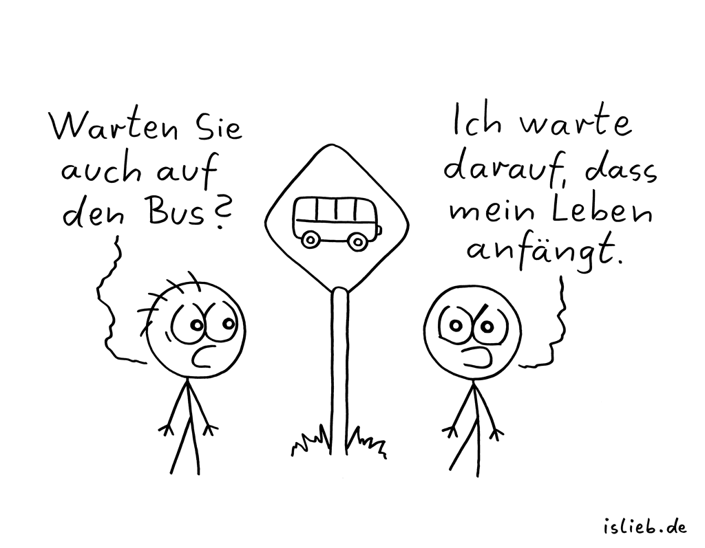 Warten | Bus-Cartoon | is lieb?