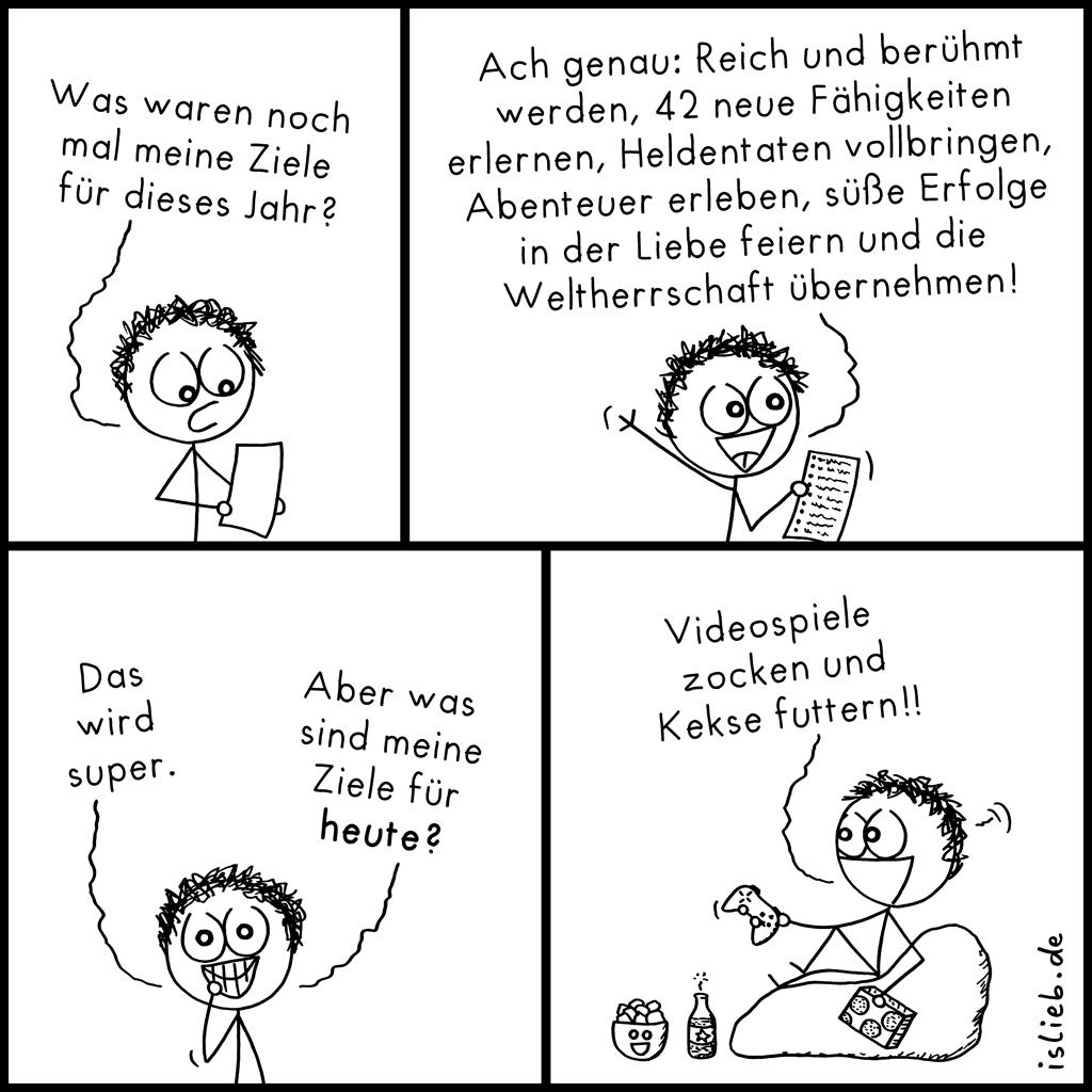 Ziele haben | Strichmännchen-Comic | is lieb?