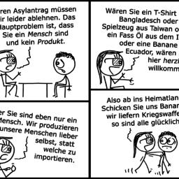 Asylantrag | Abschiebungs-Comic | is lieb?