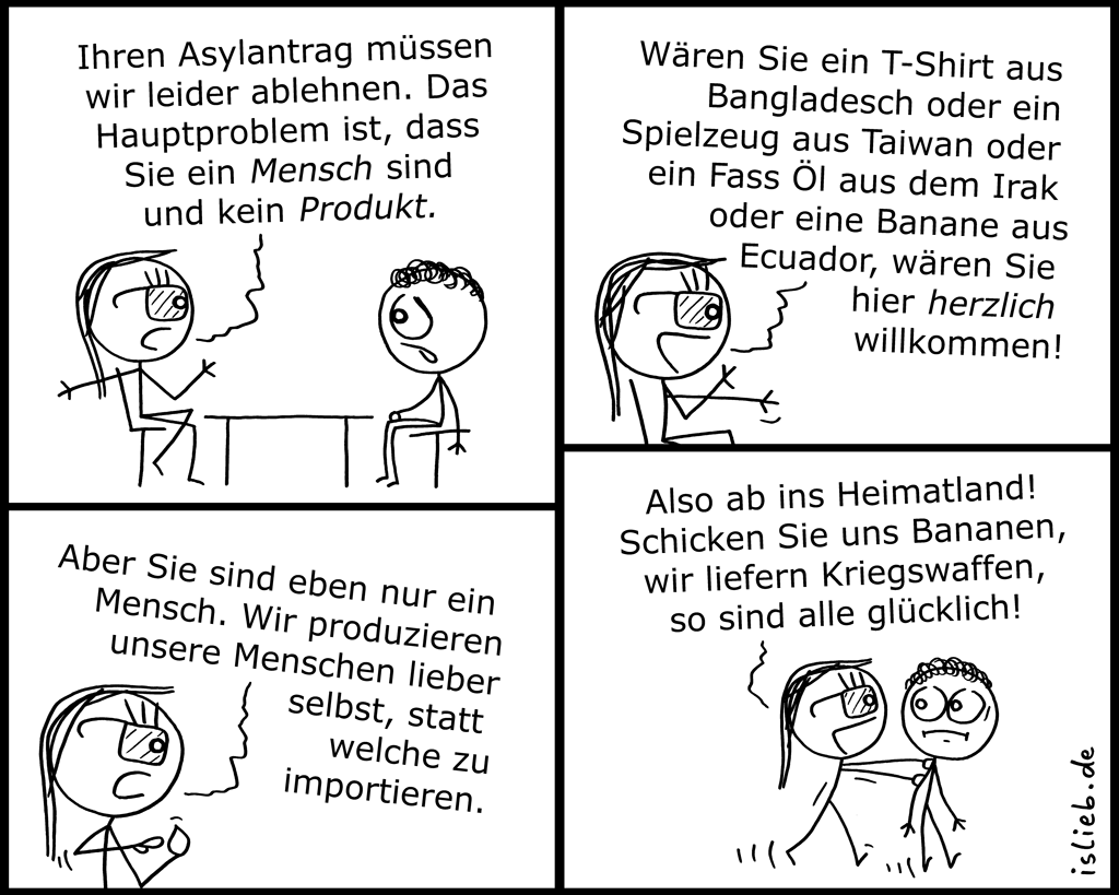 Asylantrag | Abschiebungs-Comic | is lieb?