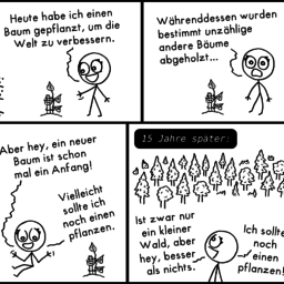 Baum | Weltverbesserungs-Comic | is lieb?