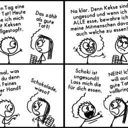 Gute Tat | Schokoladen-Comic | is lieb?