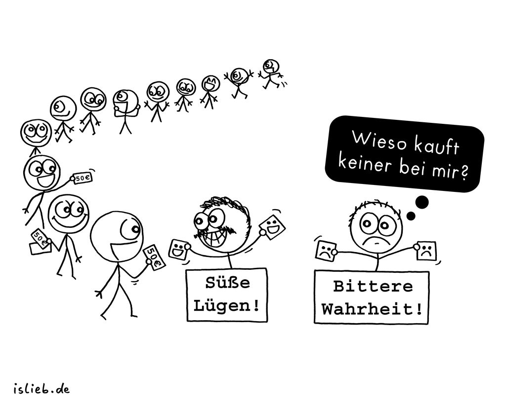 Ladenhüter | Kommerz-Cartoon | is lieb?
