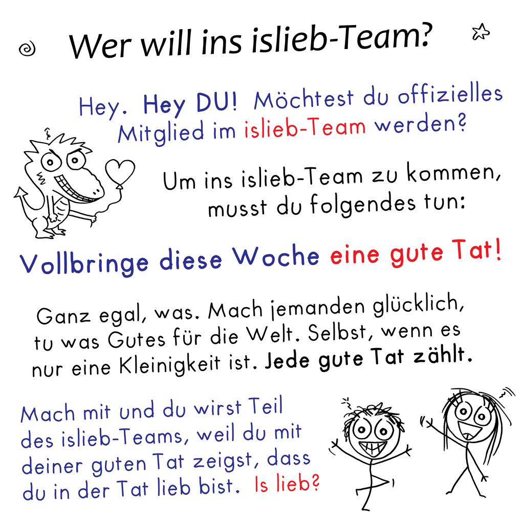 Komm ins islieb-Team!