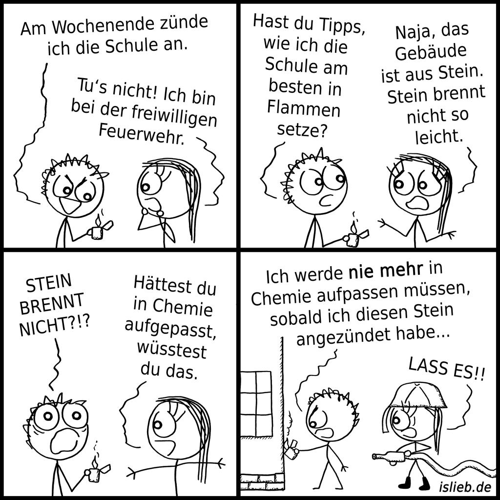 Wochenendpläne | Chemie-Comic | is lieb?