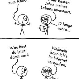 Abitur | Schul-Comic | is lieb?