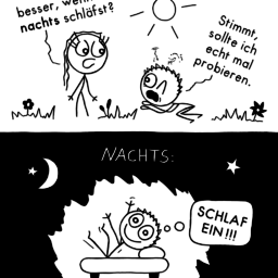 Biorhythmus | Tag-Nacht-Comic | is lieb?