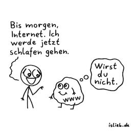 Bis morgen | Internet-Cartoon | is lieb?